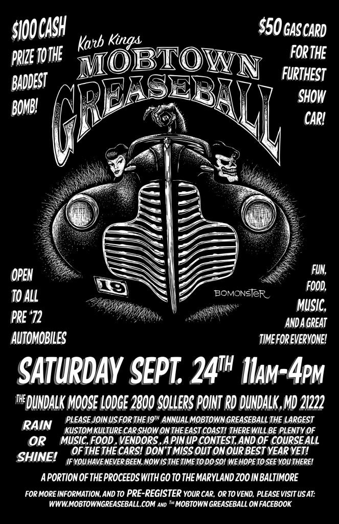 Mobtown Greaseball 2016 flyer